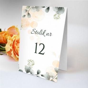 Numery stolików na wesele Pastelowa 03