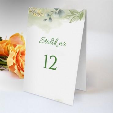Numery stolików na wesele Pastelowa 04