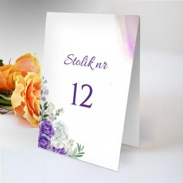 Numery stolików na wesele Pastelowa 07