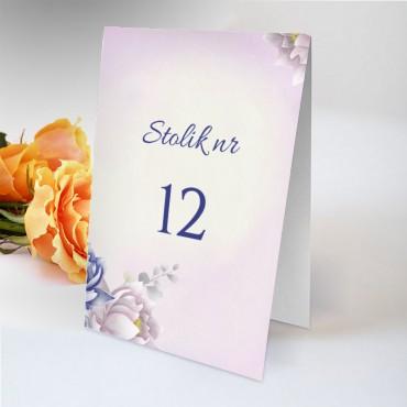 Numery stolików na wesele Pastelowa 08
