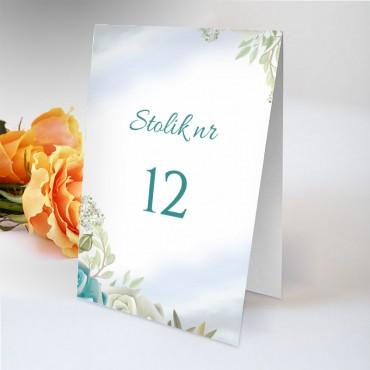 Numery stolików na wesele Pastelowa 09