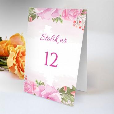 Numery stolików na wesele Pastelowa 10