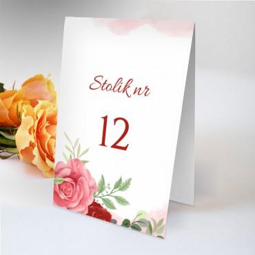 Numery stolików na wesele Pastelowa 11