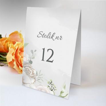 Numery stolików na wesele Pastelowa 12