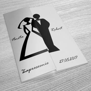 Zaproszenia Ślubne Black&White nr 08
