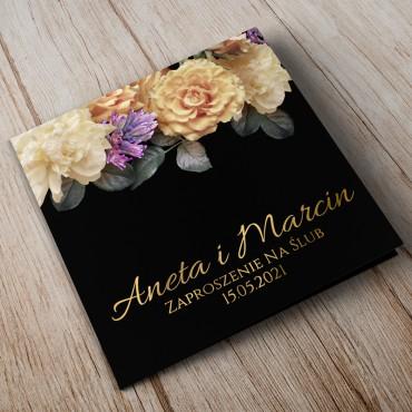 Zaproszenia Ślubne Floral 01B