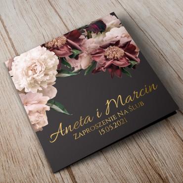 Zaproszenia Ślubne Floral 02B