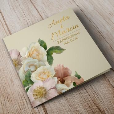 Zaproszenia Ślubne Floral 03A