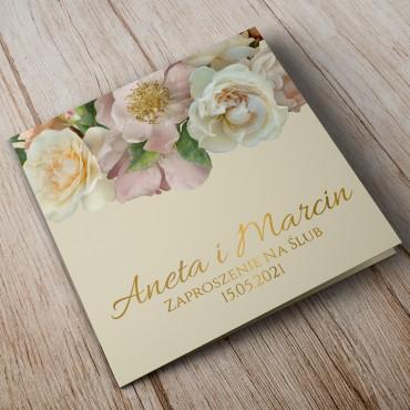 Zaproszenia Ślubne Floral 03B