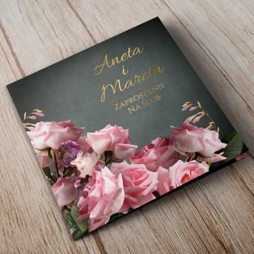 Zaproszenia Ślubne Floral 04A