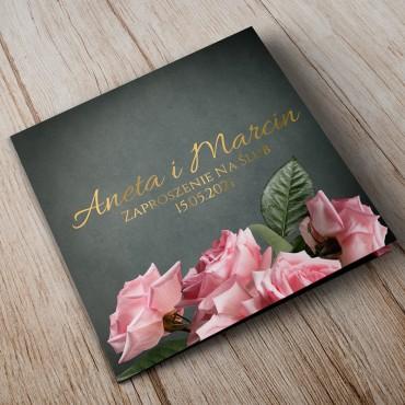 Zaproszenia Ślubne Floral 04B