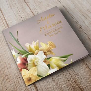 Zaproszenia Ślubne Floral 05A