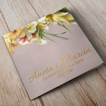 Zaproszenia Ślubne Floral 05B