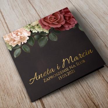 Zaproszenia Ślubne Floral 06B