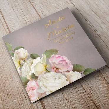Zaproszenia Ślubne Floral 07A