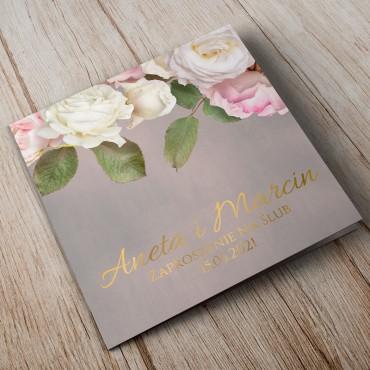 Zaproszenia Ślubne Floral 07B