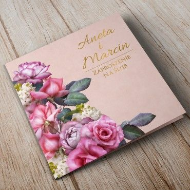 Zaproszenia Ślubne Floral 08A