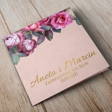 Zaproszenia Ślubne Floral 08B