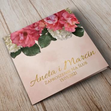 Zaproszenia Ślubne Floral 09B