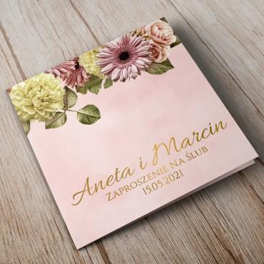 Zaproszenia Ślubne Floral 10B