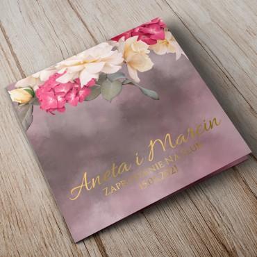 Zaproszenia Ślubne Floral 13B