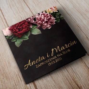 Zaproszenia Ślubne Floral 16B