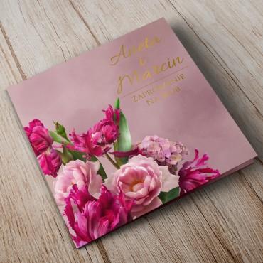 Zaproszenia Ślubne Floral 18A