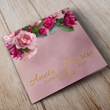 Zaproszenia Ślubne Floral 18B