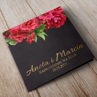 Zaproszenia Ślubne Floral 19B