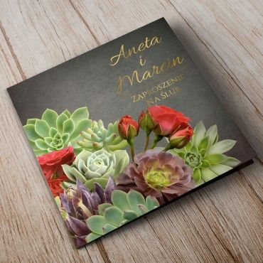 Zaproszenia Ślubne Floral 20A