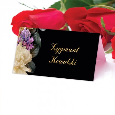 Winietki Ślubne na Stół Floral 01