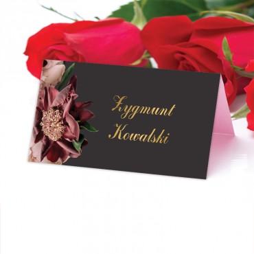 Winietki Ślubne na Stół Floral 02