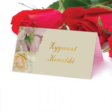 Winietki Ślubne na Stół Floral 03