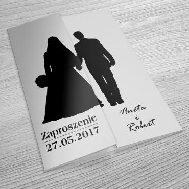 Zaproszenia Ślubne Black&White nr 11