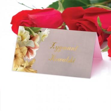 Winietki Ślubne na Stół Floral 05