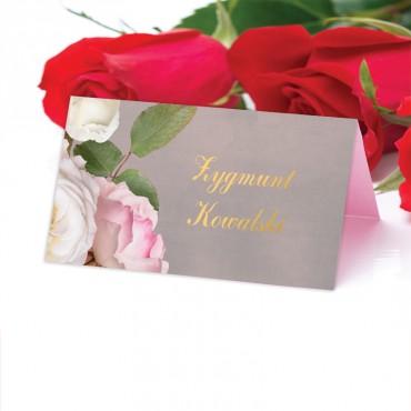 Winietki Ślubne na Stół Floral 07