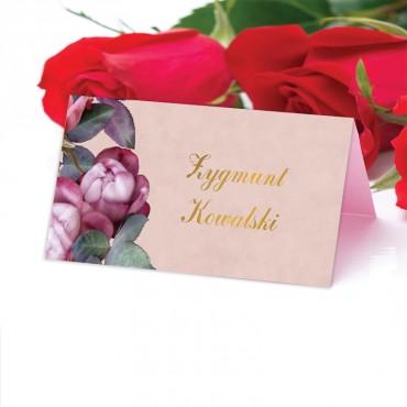 Winietki Ślubne na Stół Floral 08