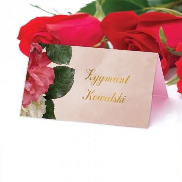 Winietki Ślubne na Stół Floral 09