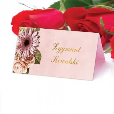 Winietki Ślubne na Stół Floral 10