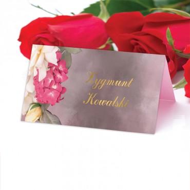 Winietki Ślubne na Stół Floral 13