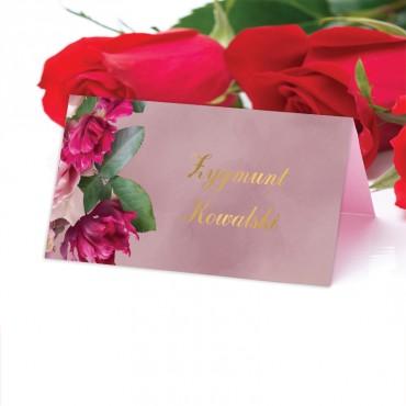 Winietki Ślubne na Stół Floral 18