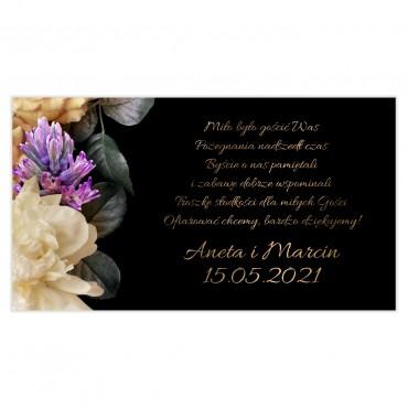 Etykiety na ciasto weselne Floral 01