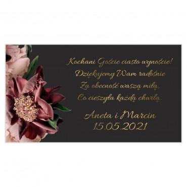 Etykiety na ciasto weselne Floral 02