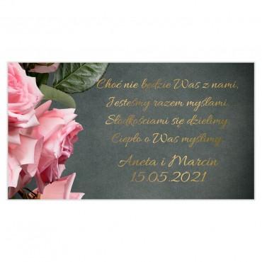 Etykiety na ciasto weselne Floral 04