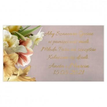 Etykiety na ciasto weselne Floral 05