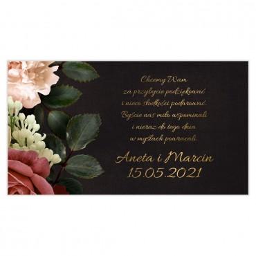 Etykiety na ciasto weselne Floral 06