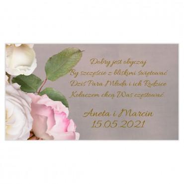 Etykiety na ciasto weselne Floral 07