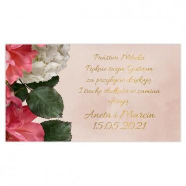 Etykiety na ciasto weselne Floral 09
