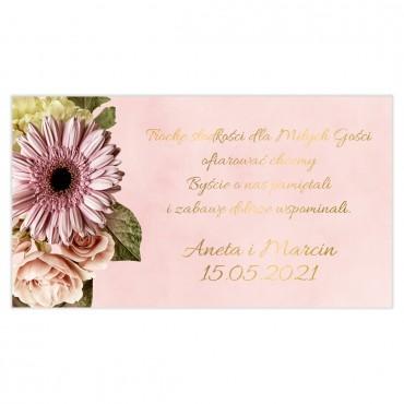 Etykiety na ciasto weselne Floral 10