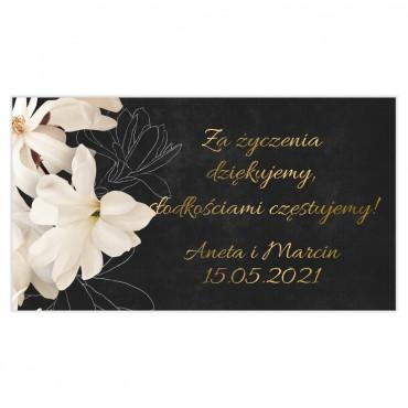 Etykiety na ciasto weselne Floral 11